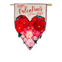 Floral Ombre Heart House Flag, EE13L8975BLH