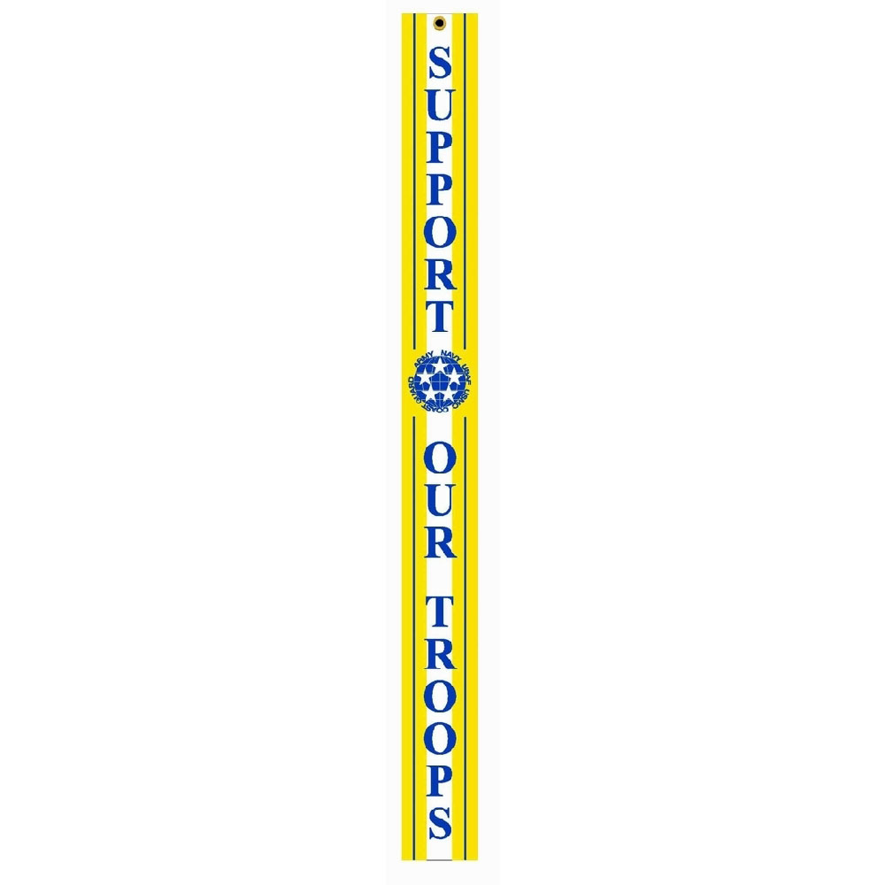 Vertical Support our Troops Streamer, A341000