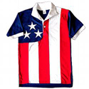 Poly-Cotton American Flag Golf Shirt