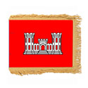 Army Corps of Engineers Flag with Pole Hem and Fringe, AACOE35PHF