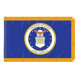 Air Force Fringed Flag with Pole Hem, AAIRF46PHF