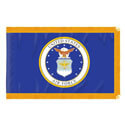 Double-sided Embroidered Air Force Fringed Flag with Pole Hem