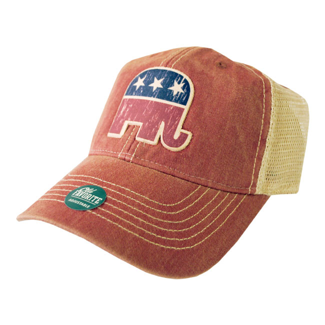 Red Republican Old Favorite Trucker Cap, AHAT273177