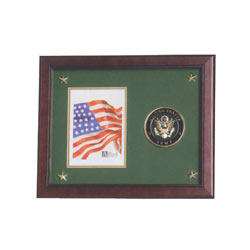 Army Medallion Picture Frame, ALF59003