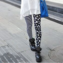 Black & White American Flag Leggings, ALIXBWLEGGING