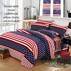 American Flag Themed Bedding Set, ALIXUSABEDQ