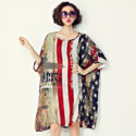 Patriotic Flag Print Dress, ALIXUSADRESS