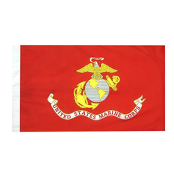 Marine Corps flag with pole hem, AMARI35PH