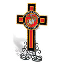 US Marine Corps Cross With Votive Holder, AMIACRMTMAR
