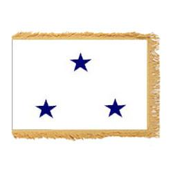 Navy Not of the Line Vice Admiral Fringed Flag with Pole Hem, ANAVYNOL334PHF