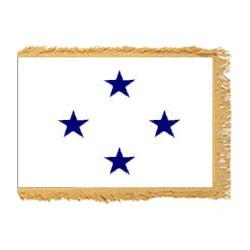 Navy Not of the Line Admiral Fringed Flag with Pole Hem, ANAVYNOL446PHF