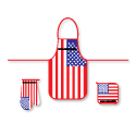 USA Flag Kitchen Set, AWFK246