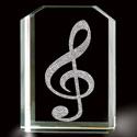 Treble Clef 3D Laser Etched Crystal, BIT33493638