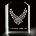Air Force Wings 3D Laser Etched Crystal, BIT3782