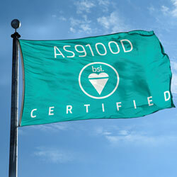 BSI's AS9100 Certified Flag, BSIAS91003917F