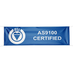 BSI's AS9100 Certified Banner, BSIAS910039H
