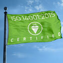 BSI ISO 14001:2015 Certified Flag, BSIISO1400115F