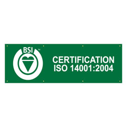 French BSI's ISO 14001:2004 Certified Banner, BSIISO1400439F