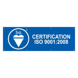 French BSI's ISO 9001:2008 Banner, BSIISO90010839F