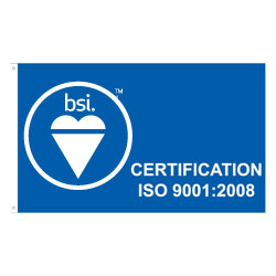 French BSI's ISO 9001:2008 Flag, BSIISO9001235F