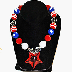 Marble Star Bead Necklace, CACO212
