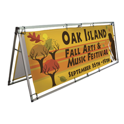 Horizontal A-Frame Display Kit with 8 ft Banners, CB210107