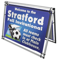 Horizontal A-Frame Display Kit with 4 ft Banners, CB210109