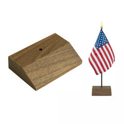 Walnut Bases for Miniature 4 x 6 in. Flags, FBPP0000013239