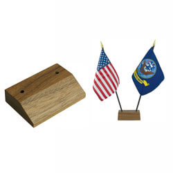 Base for 2 Miniature 4 x 6 in. Flags, CBASE050529