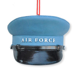 Air Force Hat Resin Ornament, CBK102350AF