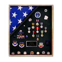 Military honors display case