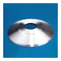 Spun Aluminum Satin Finish Flash collar for ground set flagpole, FBPP0000010429
