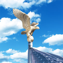 Economy Eagle ornaments for flagpoles, CEAGL0100