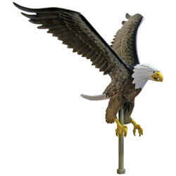 Hand-painted Eagle Ornament for Ground Set Flagpole, FBPP0000010633
