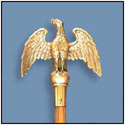 Perched Eagle Ornament with Ferrule, CEAGL7S