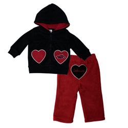 Arkansas Razorback Hooded Jacket and Pant Set, COLOHEART36