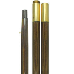 Brass Screw Joint Presentation Pole, Style A, CPOLE881W