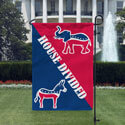 Democrat Republican House Divided Garden Flag, DBAN1218DEMREP