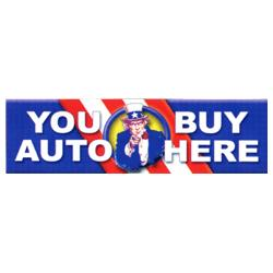 You Buy Auto Here PatrioticBanner, FBPP0000012966