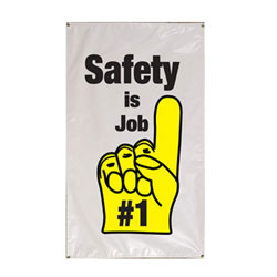 Safety is Job #1 Banner, DBANN35SJ