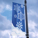 Snowflakes Street Pole Banner