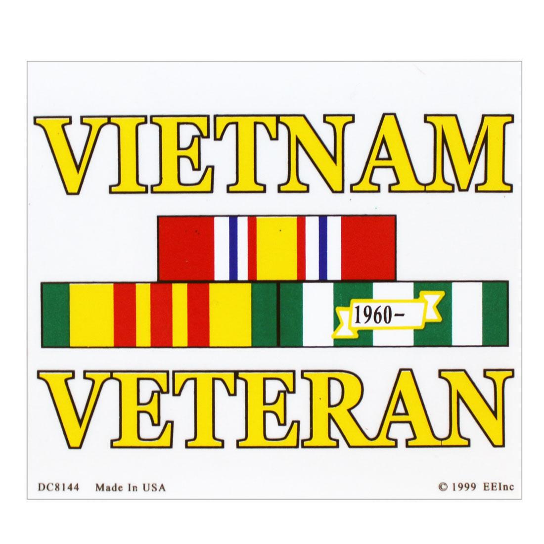 Vietnam Veteran Ribbon Sticker