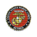 US Marine Retired Sticker, DECDCM007