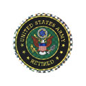 US Army Retired Sticker, DECDCM008