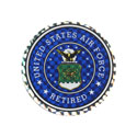 US Air Force Retired Sticker, DECDCM009