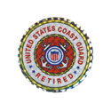 US Coast Guard Retired Sticker, DECDCM011