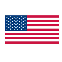 Left-Hand American Flag Decal, DECUS812L