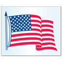 Left-Hand American Flag Decal, DECUS4712