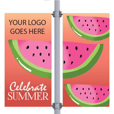 Watermelon Double Street Pole Banner,DEKCHWDB3096V