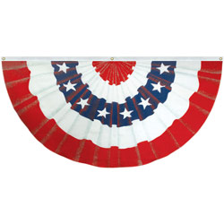 Red White and Blue Stars & Stripes Illusion Full Fan, DFAN1836WSPC